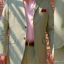 春夏秋 コットン ジャケット オリーブ 3つボタン 【綿混】【ストレッチ】【セットアップ可】 メンズ ブレザー OXFORD CLASSIC 0970 A4 A5 A6 A7 AB7 BB4 BB5 BB7