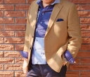春夏 ジャケット シワ加工 オレンジ系 3つボタン 【麻100%】 メンズ ブレザー OXFORD CLASSIC PremiumLine 3642 A7 A8