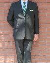 春夏 2パンツスーツ 黒 ストライプ 段返り3つボタン OXFORD CLASSIC 英国調 【チェンジポケット付】【高級素材】 メンズ スーツ 1509 A..