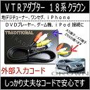 トヨタ 外部入力VTRアダプター18系クラウン マジェスタ GRS18#地デジ、DVD、iPod接続に