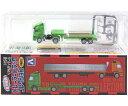 【1】 アオシマ 1/150 リアルディテール トレーラートラック B-TYPEヘッド・平床式セミトレーラー ミニチュア Nゲージ ストラクチャー ベンツ アクトロス ボルボ 半完成品 単品