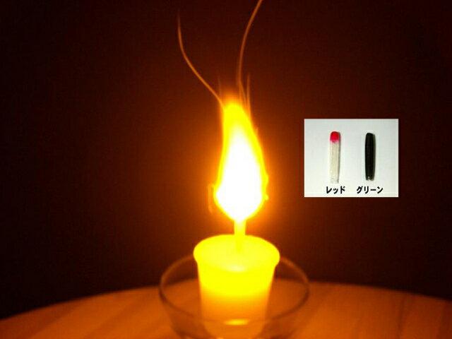 ロウソク専用フレアキャップ(1本単位)/ロウソクの芯に被せて点火するとシュワシュワ燃え上がります。