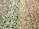 【YUWA布地 生地 有輪商店】  綿麻キャンバスフラワープリント 4色 195Y1