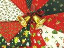 【特価布地 生地】 クリスマス柄 カットクロス 10枚セットA CH13