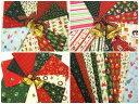 【特価布地 はぎれ生地】 クリスマス柄 カットクロス 10枚...