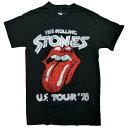 新品/海外正規ライセンス/The Rolling Stones/Tongue/US Tour'78/プリントTシャツ/黒/ストーンズ【あす楽対応_関東_甲信越_北陸_東海_近畿_中国_四国】【ゆうパケット対応】