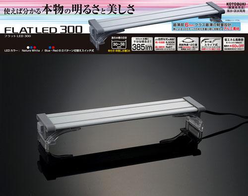 コトブキ フラットLED300 【省エネ&長寿命】 【熱帯魚・アクアリウム/照明/LED】