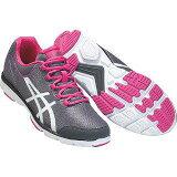 爱世克斯【ASICS】女士步行鞋HADASHIFINE744(W)1119∶灰色粉红色(tdw744-1119)[アシックス【ASICS】レディースウォーキングシューズ HADASHIFINE744(W) 1119:グレーピンク(tdw744-1119)]