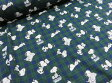 スヌーピー タータンチエック グリーン/ブルー オックス生地 634117【DM2m便可】|キャラクター|生地・布|入園入学|通園通学|キッズ|男の子|スモック|レッスンバッグ|手作り|ハンドメイド|手芸|通販|