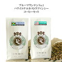 ブルーマウンテンNO.1&ハワイコナ100% コーヒーセット(珈琲 豆/粉)100g×2【コーヒー保存缶プレゼント中】