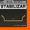 【UIvehicle/ユーアイビークル】ハイエース 200系 強化スタビライザーワイドボディ 1〜4型(スーパーGL,S-GL,GL,DX,グランドキャビン)2...
