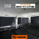 【UIvehicle/ユーアイビークル】ハイエース 200系 遮光カーテンワイドボディ 2〜4型(スーパーGL,S-GL)用 リア5面セット専用設計!!上下レールでピッタリフィット!!UVカット・1級遮光のプリーツカーテンで車中泊に最適!!日本製!!