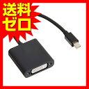 エレコム Mini DisplayPort-DVI変換アダプタ AD-MDPDVIBK☆AD-MDPDVIBK★【送料無料】 1302ELZC
