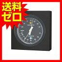 モノ 温湿度計 ブラック MN-4822