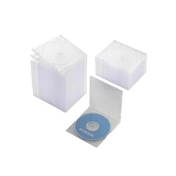 エレコム DVD CDケース プラケース スリム 1枚収納 50枚枚パック クリア CCD-JSCS50CR Blu-ray / ( / PS / ) ELECOM 【 あす楽 】