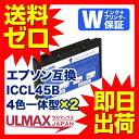 ICCL45B 4色一体型×2 EPSON用互換インク 4色一体型 ( ICCL45B E-300 E-300L E-330 E-330SG E-330SP E-330SW E-340P E-340S E-350G E-350P E-350W E-360P E-360W E-370P E-370W E-500 E-520 E-530C E-530P E-530S E-600 E-700 E-720 E-800 E-810 E-820 ) comp.ink FKBR
