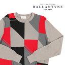 【48】 BALLANTYNE バランタイン 丸首セーター G2P0000 メンズ グレー 灰色 並行輸入品 メンズファッション 男性用 ビジネス ニット 日本未入荷 ラッピング無料 送料無料