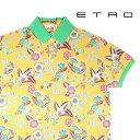ショッピングポロシャツ メンズ ETRO(エトロ) 半袖ポロシャツ 1Y800-4059 イエローマルチカラー S 23077ye 【A23082】