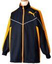 プーマジュニアトレーニングジャケット901457(02)ニュー ネイビー/ブライト マリーゴールド