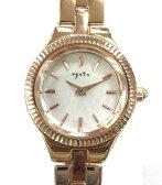 アガット agete NO.18 レディース 腕時計 ダイヤ 1P ピンクゴールド クォーツ シェル 白蝶貝 ☆ レディース 【ベクトル 古着】【中古】 160225