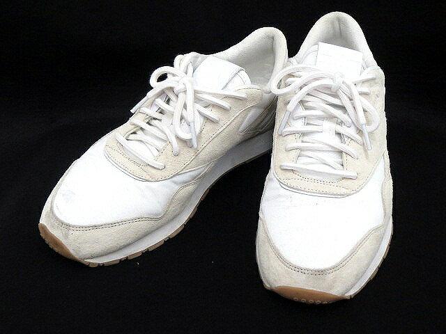 リーボック Reebok MAISON KITSUNE メゾンキツネ コラボ スニーカー 27.0 白 ホワイト シューズ 靴 くつ メンズ 【ベクトル 古着】【中古】 160720