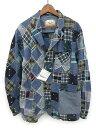 未使用品 エンジニアードガーメンツ Engineered Garments BEAMS PLUS テーラードジャケット パッチワーク XL 紺 /☆K107 メンズ 【中古】【ベクトル 古着】 161117 ブランド古着ベクトルプレミアム店