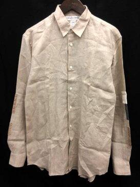 コムデギャルソンシャツ COMME des GARCONS SHIRT シャツ リネン 袖パッチワーク M ベージュ /EK メンズ 【中古】【ベクトル 古着】 180123 ブランド古着ベクトルプレミアム店