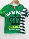 ベビードール BABYDOLL キッズ ロゴ 半袖 Tシャツ 緑 120 春夏 その他 【ベクトル 古着】【中古】 160905