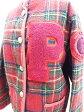 ピンクハウス PINK HOUSE ジャケット ブルゾン チェック柄 ワッペン ウール 赤 グリーン レディース【中古】【ベクトル 古着】 160926 ブランド古着ベクトルプレミアム店