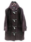 ニューヨーカー NEWYORKER コート ダッフル ウール フード ロング 9 紫 レディース 【ベクトル 古着】【中古】 160809