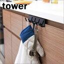 キッチンドアフック ブラック 02459 タワー tower 5連フック 【山崎実業/YAMAZAKI】 新生活 ギフト