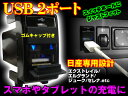 日産汎用 USB2ポート 純正スイッチホール36mm 青LED スマホ充電【X-TRAIL,ジューク】等