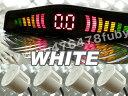 警告音 モニター付 パーキングセンサー/バックセンサーシステムKIT(白)