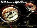 バイク汎用φ60 機械式スピードメーター140km&電気式タコメーターセット(8,9)