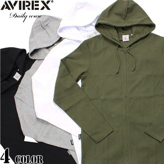 AVIREX-avirex daily wear long スリーブジップパーカー 4 color definitely hurt is not the ultimate staple items one less ユーティリティーウェア