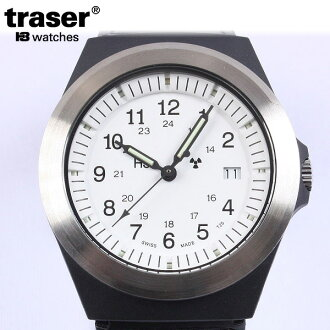 TRASER tracer military watch type 3 white model belt part of the Japan limited Japan only model mil-spec model based on the quality and