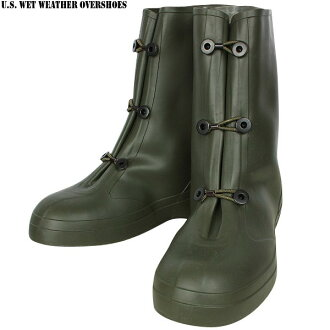 Strong ally, put it from the real brand new military ウエットウェザー over boots shoes on rainy days, snowy days