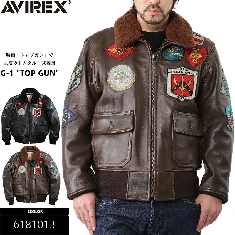 AVIREX アヴィレックス TOP GUN G-1 レザーフライトジャケット 6181013 avirex メンズ ミリタリー 革ジャン 本革 ジャケット 正規品 送料無料 mss WIP 【クーポン対象外】 10P05Nov16