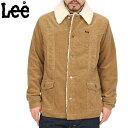 【送料無料】【WIP】Lee リー LT0524 CORDUROY ランチコート BEIGE 【LT0524-216】定番カバーオールにボアが施されたランチコート着れば着るほど味わいが増す仕上がり