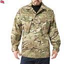 実物 新品 イギリス軍 TROPICAL COMBAT ジャケット MTP (Multi Terrain Pattern) 薄手な生地なので真冬以外の3シーズン着用可能 イギリス軍独自のMTPパターン 【ミリタリー】 mss WIP メンズ