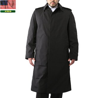 Real brand new US Army U.S... A NAVY ブラックステン color coats slim silhouette is perfect various work one military coat