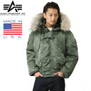 10%OFFクーポン対象◆ALPHA INDUSTRIES アルファインダストリーズ MADE IN U.S.A N-2B フライトジャケット ギフト プレゼント 新生活 ..