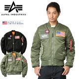 ALPHA アルファ USA 日本未発売 MA-1 FLEX SLIM フライトジャケット TA0125 ミリタリージャケット メンズ 大きいサイズ