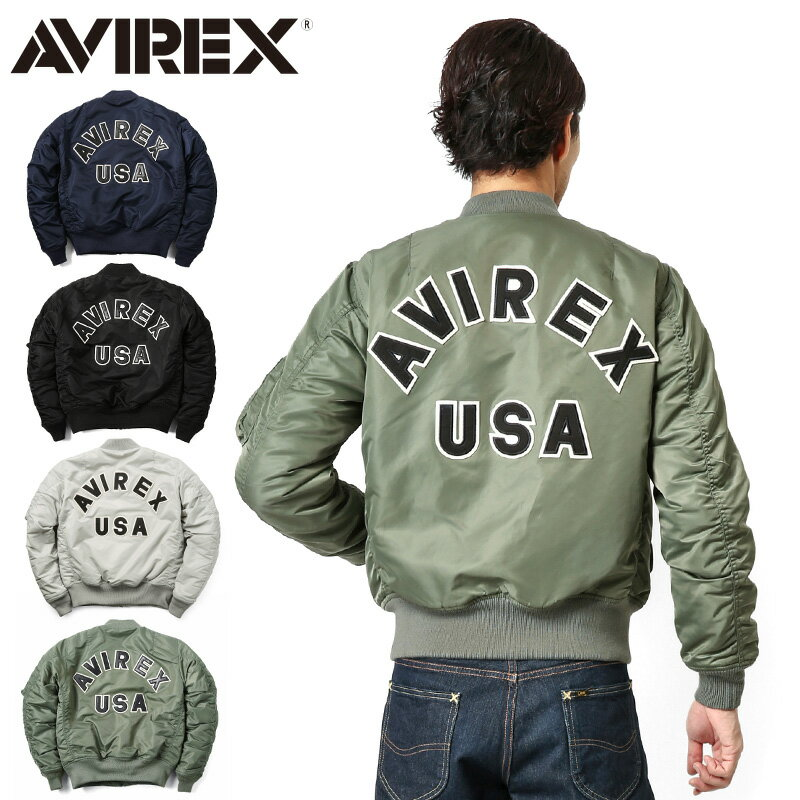 [MA-1] AVIREX アビレックス MA-1 CM LOGO MIL-J-8279E フライトジャケット 【6162164】 avirex アビレックス/メンズ/ミリタリージャケット/正規品 送料無料 mss【クーポン対象外】 10P05Nov16
