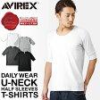 AVIREX アビレックス ハーフスリーブ Tシャツ Uネック デイリーウエア 5分袖 [6143508] デイリーウェア avirex アヴィレックス Tシャツ mss WIP 0601楽天カード分割