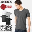 AVIREX アビレックス 半袖 Tシャツ Uネック デイリーウエア メンズ デイリーウェア avirex アヴィレックス Tシャツ アビレックス AVIREX mss WIP 0601楽天カード分割