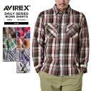 AVIREX アビレックス デイリーウェア 6145212 L/S CTN FLANNEL チェックシャツ アビレックス AVIREX シャツ メンズ シャツ フランネルシャツ ネルシャツ チェックシャツ 長袖 ロングスリーブ トップス アビレックス AVIREX mss WIP