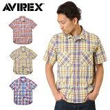 ��¨��ȯ���� AVIREX ���ӥ�å��� �ǥ�������� 6145136 S/S �ޥɥ饹 �����å������ Ⱦµ 0601��ŷ������ʬ�� ��SA�� 10P06Aug16
