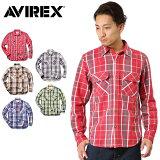 ��¨��ȯ���� AVIREX ���ӥ�å��� �ǥ�������� 6155164 L/S ���åȥ� �ե��ͥ� �����å������ ��SA�� ��� mss WIP