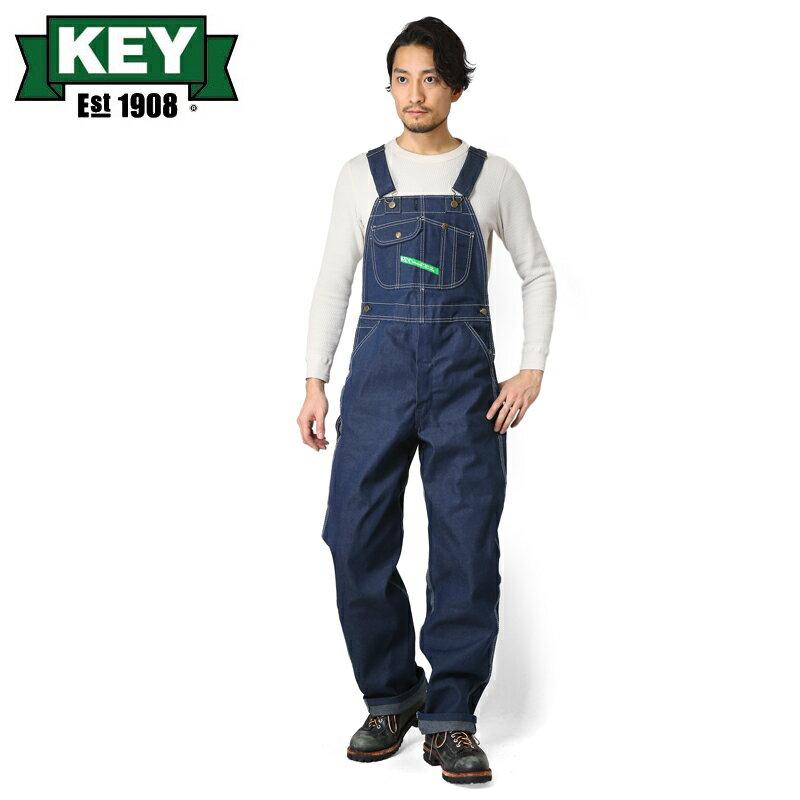 店内20%OFF開催中◆KEY キー Bib Overalls ビブオーバーオール ハイバック NON WASH【KEY273-DE】 WIP メンズ ミリタリー アウトドア